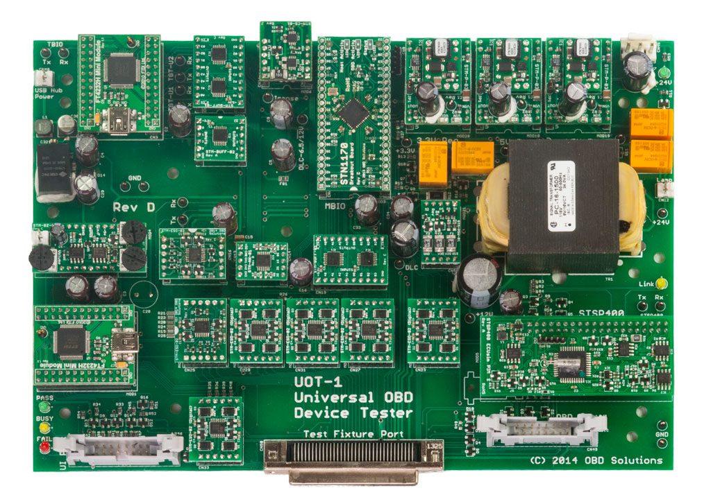 Universal OBD Tester Board Diagram